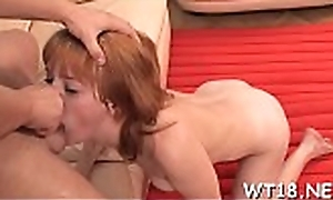 Beautiful pretty sweetheart rides dick together with receives screwed sideways