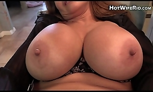 Mammy HotWifeRio sucks on her sons cock and eats his sperm