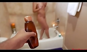 Mom takes son'_s dick in, prevalent bathtub!
