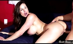 Marvelous MILF jizzed on ass relating to cowgirl pose