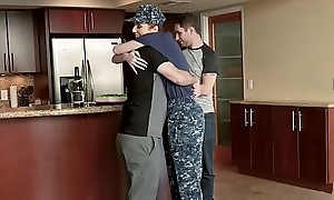 FamilyStrokes - Redhead Military Fit together Receives Rammed apart from Stepson