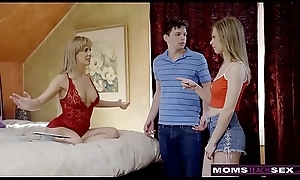 MomsTeachSex - Domineer MILF Receives Hot Mother'_s Fixture Threesome! S8:E4