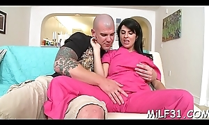 Juvenile hunk is pleasuring milf'_s sexy twat with wet lickings