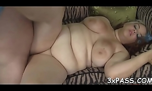 Brotha's huge cock for obese angel