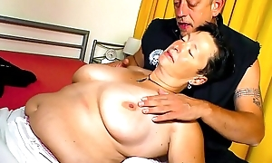 XXX OMAS - Broad in the beam soul German broad in the beam matured gets drilled