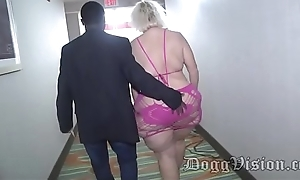 56y GILF Amber Connors Squirts in the matter of Hotel Stairwell
