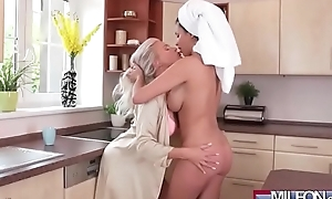 Busty superannuated lesbian sweethearts cum-hole eating(anissa kate & kathy anderson) 01 clip-07