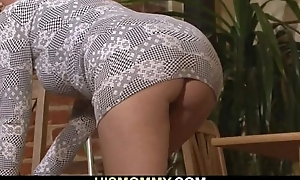 Sexy mommy seduces will not hear of son's gf