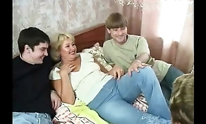 Russian mature regina plus 3 guys