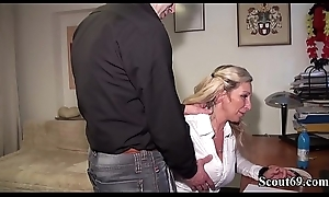 Step-Bro Snowy German MILF Sister relating to Converse plus Fuck her Anal