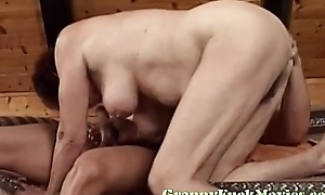 Dirty age-old granny gets nailed