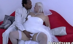 LACEYSTARR - Granny bride fed with cum after BBC pound