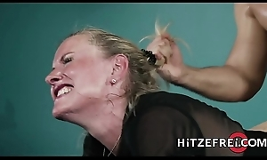 HITZEFREI Blonde German MILF bonks a younger supplicant