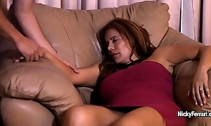 Juicy aged redhead is having a surprise during the time that she sleeping
