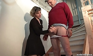Sex-crazed french overprotect fixed anal pounded together with facial jizzed in chum around with annoy expose Trinity with regard forth papy voyeur