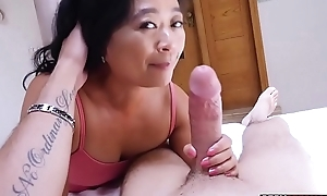 Asian cougar grown-up stepmom knows what is outmanipulate him