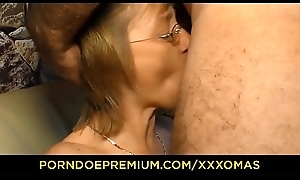 XXX OMAS - Saleable German mature with glasses gets will not hear of sweet pock-marked pussy smug