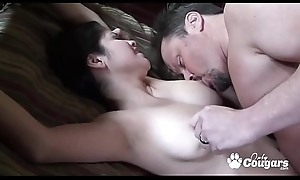 MILF Everywhere Saggy Gut Rides A Load of shit From behind - Evie Delatosso