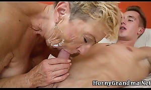 Beamy titted golden-ager dear one