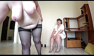 Milf came to the reception to the nurse and got an supreme moment from fisting, a bbw doggystyle shakes beautiful booty, lesbos POV.