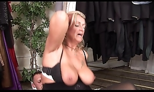 Profane mature Joanna Depp can't live without to give head and obtain fucked to obtain jizz in excess of her face