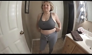 Obese chest great arse sporty GILF