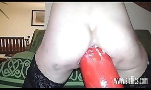 Insanely huge anal sex tool fucked lay