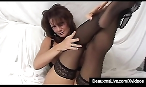 Busty Cougar Deauxma Squirts Their way Pussy Juice Masturbating!