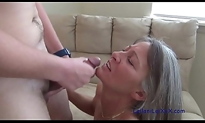 Milf Seduces an obstacle Young Neighbor