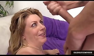 Mature Harlot Penny Implore Fucks a Man and Takes His load in Her Grinning Face