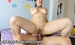Goldstandardcams.com Riding my first Cock! Loved it!