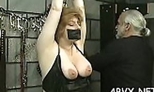 Clandestinely scenes forth obedient women enduring extreme bondage sex